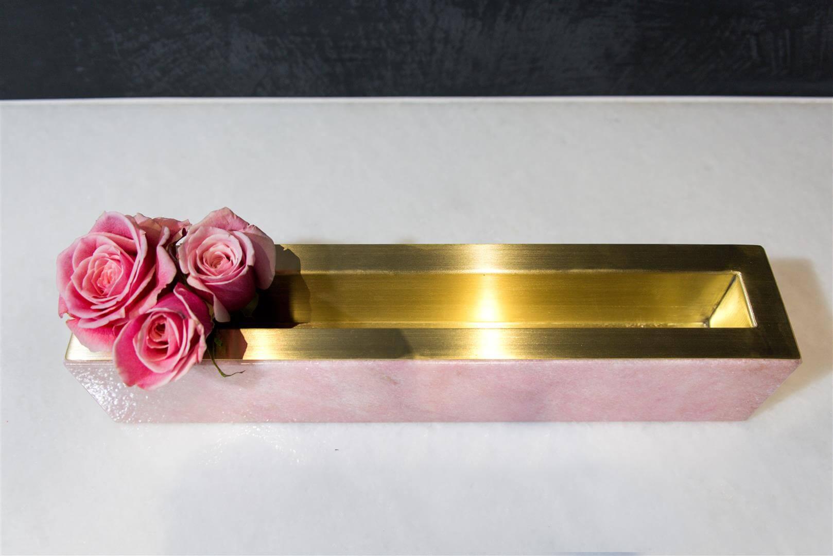 Linear Pink Onyx Vase