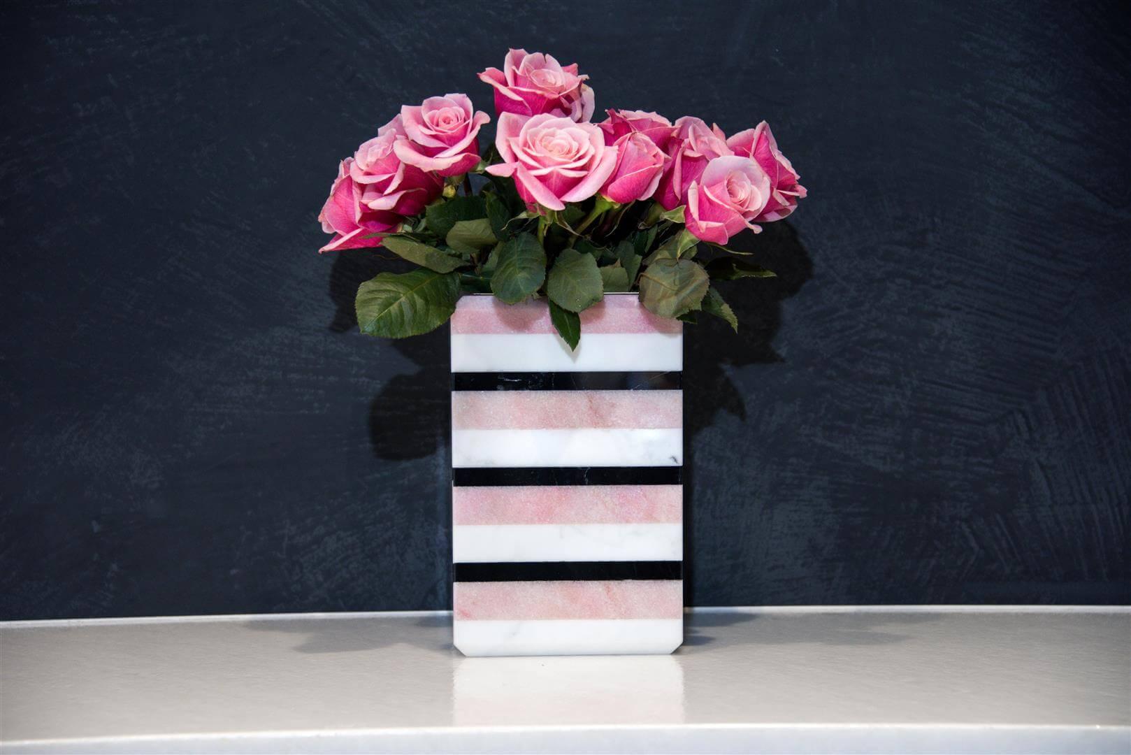 Tri-Striped Onyx Vase