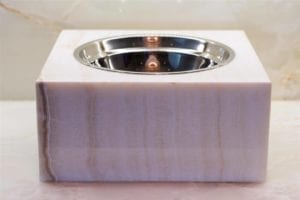 Vanilla Onyx Pet Bowl - Large