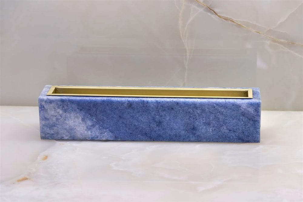 Linear Blue Onyx Vase